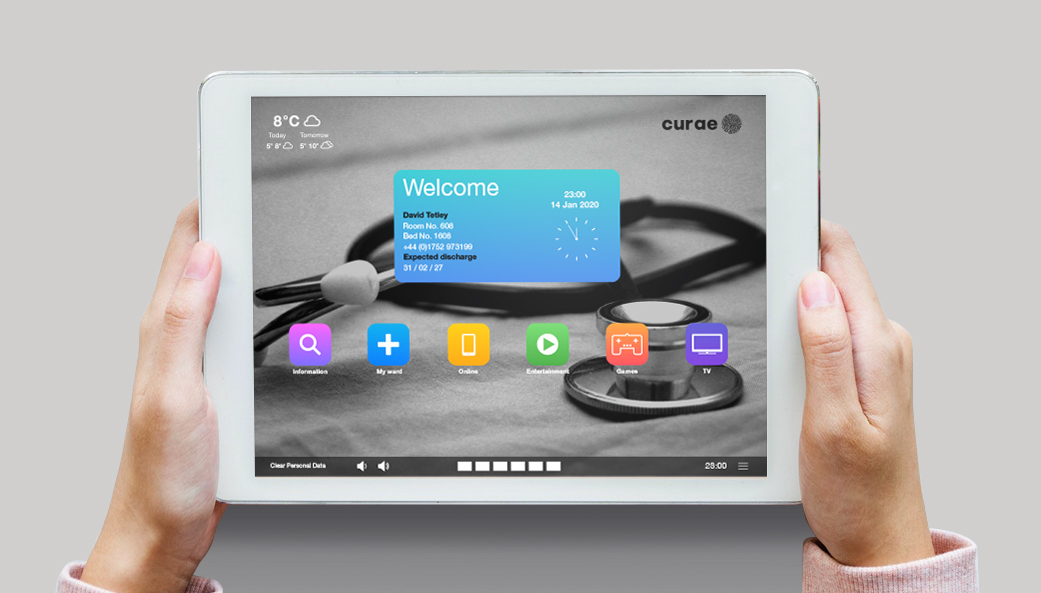 App dashboard on tablet