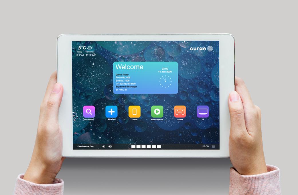 App dashboard on tablet