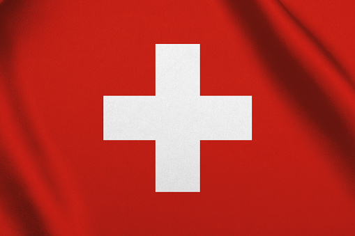 Switzerland flag waving
