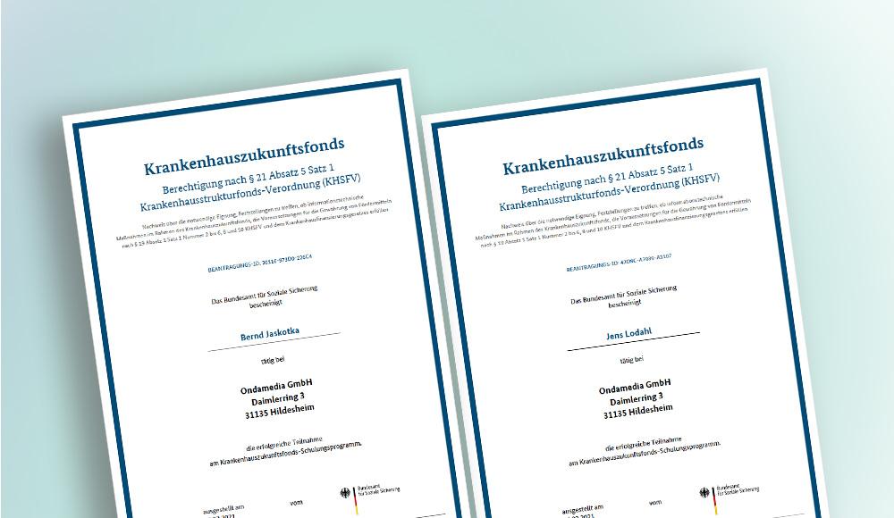 khzg Zertifikate