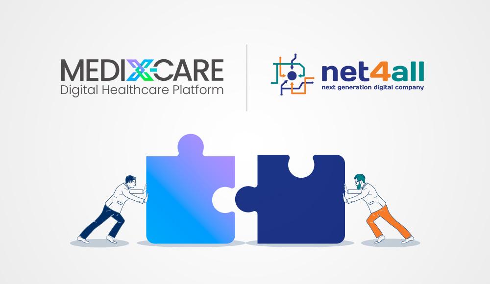 Net4All und MEDIX-CARE Logo